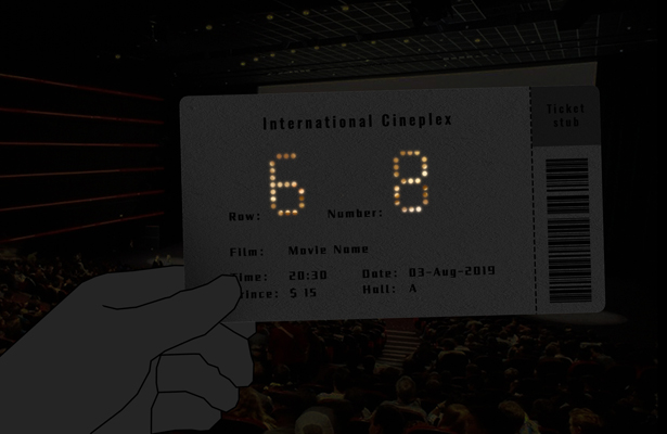 Shiny Movie Tickets by Li Peitong - A'Design Award and Competition Winners 2018-2019