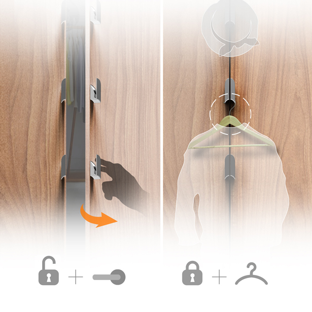 A'Design Awards and Competition 2018-2019 - Call for Submissions - 2-in-1 Fitting Room Lock by Industrial Design College in LAFA