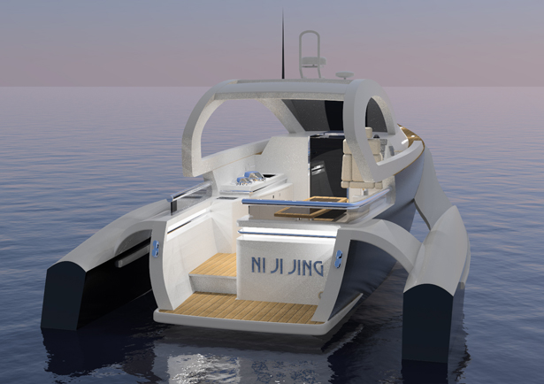 Ni Ji Jing 11.5m Sports Trimaran Yacht by Benjamin Eddy - A' Yacht and Marine Vessels Design Award Winners