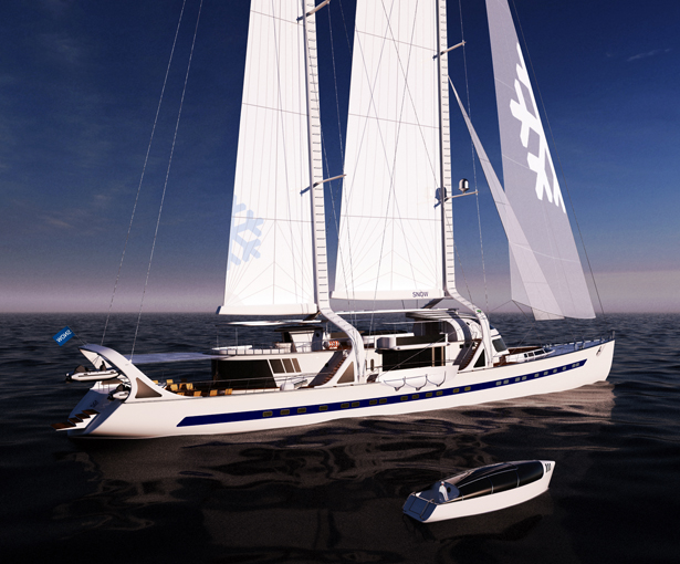 Snow Sailing Yacht by Hakan Gürsu - A' Yacht and Marine Vessels Design Award Winners