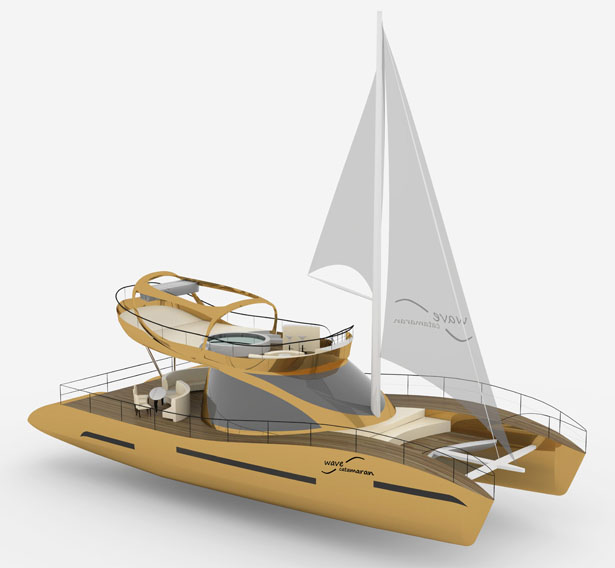 Wave Catamaran Cruiser Yacht by Roberta Visintin - A' Yacht and Marine Vessels Design Award Winners