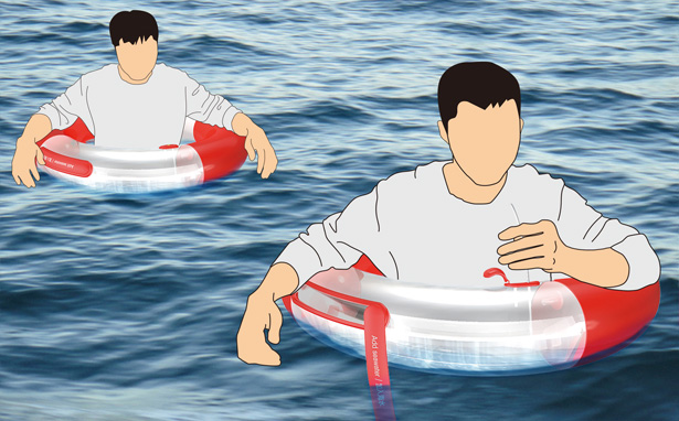 A Life Buoy Concept That Can Distill Seawater by He Yue, Wang Dading, and Yuan Huaiyu