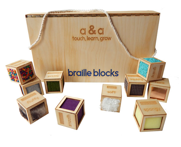 A' Toy, Games, and Hobby Products Design Award Winners - Braille Blocks Toy by Alessandra D'Alessio & Alyssa Vani