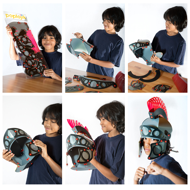 A' Toy, Games, and Hobby Products Design Award Winners - Roman Snap Together Helmet by Stephen McCabe