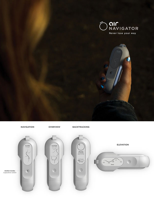 Air Powered Outdoor Gear Concept - Outdoor Enthusiasts Will Never Run Out of Battery Again by Kendall Toerner and Alexander Ordoñez