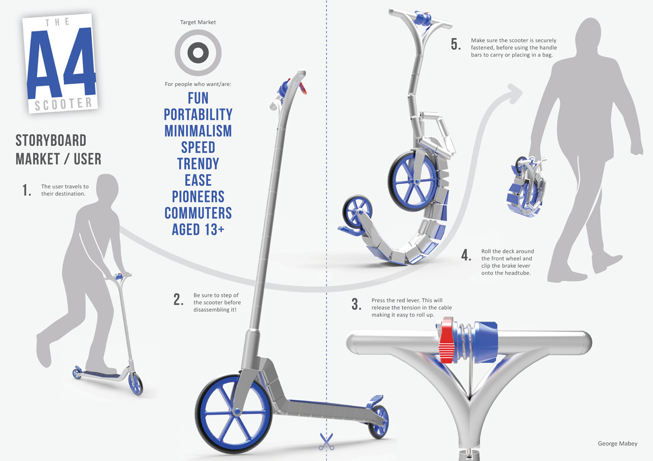 A4 Foldable Scooter That You Can Toss In Your Handbag