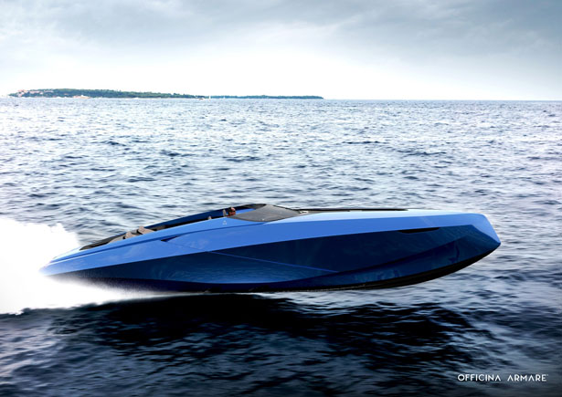 A43 luxury speedboat concept by Officina Armare Yacht and Transportation Design Studio