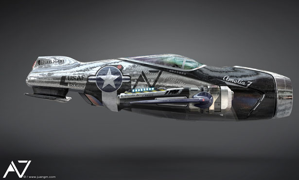 A7 Fighter Jet by Juan Garcia Mansilla