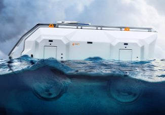 AATRV – Amphibious All Terrain Rescue Vehicle with Ability to Walk, Climb, and Swim