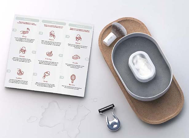 Abode Shaving Kit Concept for The National Health Service (NHS) by Ella Maisie Stephenson
