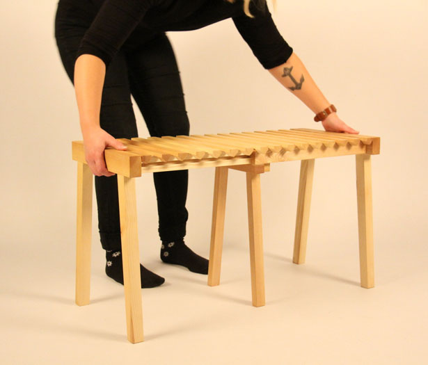 Accordion Stool by Nathalie Dackelid