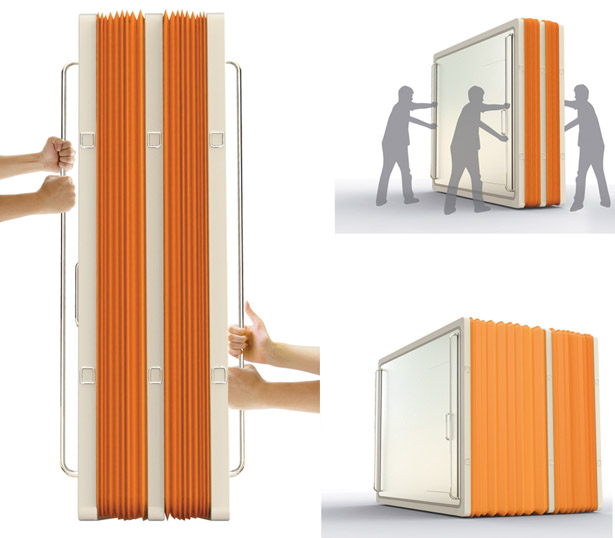Accordion Tent : Emergency Shelter For Natural Disaster Victims