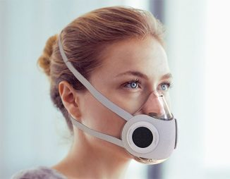 Active Mask Concept with 1-way Air Intake Valves and A Central Exhale Valve