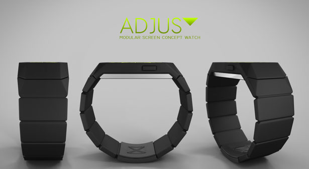 ADJUST Modular Screen Watch by NL1 Studio