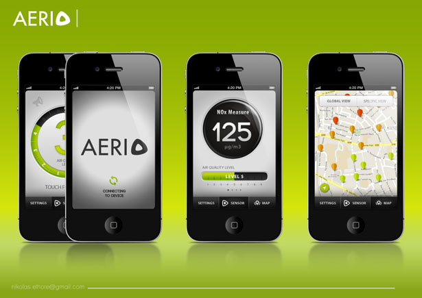 Aerio Air Quality Sensor by Nikolas Ethore