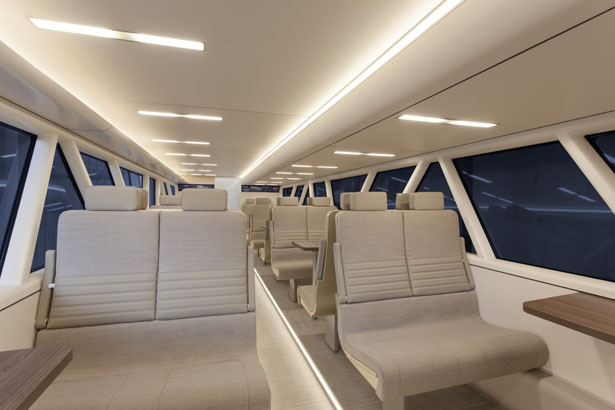 Aeroliner3000 Double Deck High Speed Train Concept For Uk