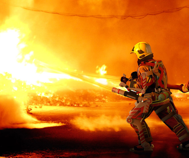 A.F.A. is A Powered Exoskeleton Suit for Firefighter