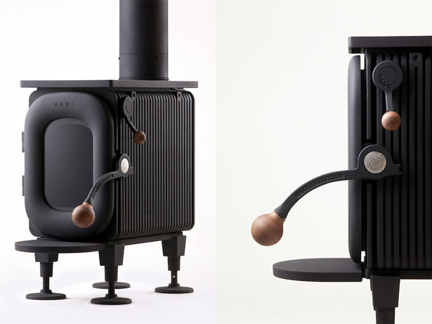 AGNI-HUTTE Wood Stove by Isao Suiz
