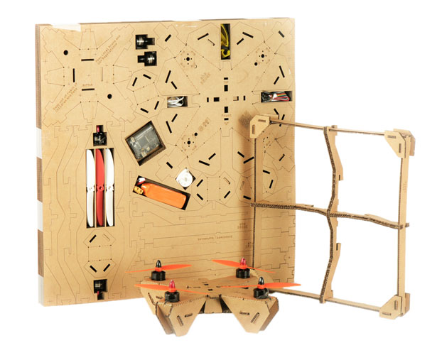 ahaDRONE Kit Cardboard Drone by Srinivasulu Reddy, Gururaj M S, and Himanshu Gupta