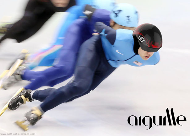 Aiguille Short Track Speed Skater Headgear by Mathias Hintermann