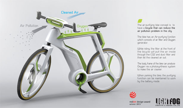 Air Purifier Bike by Lightfog