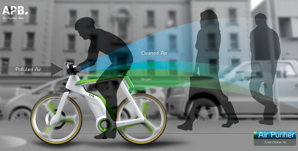 Air Purifier Bike Filters The Air And Produces Oxygen To