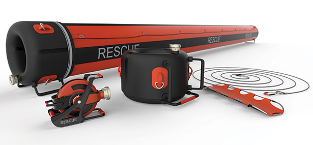 Air Rope Inflatable Rescue Tunnel for Safely Cross Flooded River