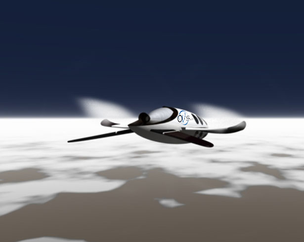 Air XLDron Unmanned Aircraft For Space Tourism by Oscar Vinals
