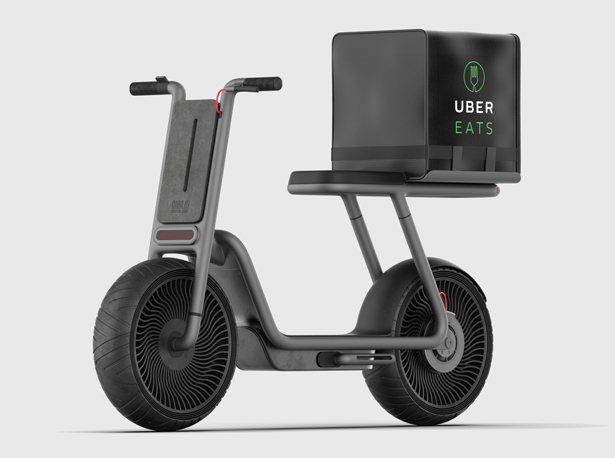 Aira Sustainable Electric Scooter Depollutes The Air While Delivering Food