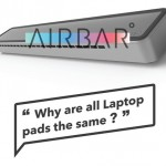 Elegant AIRBAR Portable Laptop Cooling Fan Makes Your Laptop Look Cool