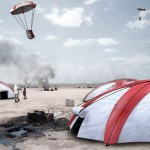 Airborne Tent: a Parachute and a Tent In One for Disaster Relief