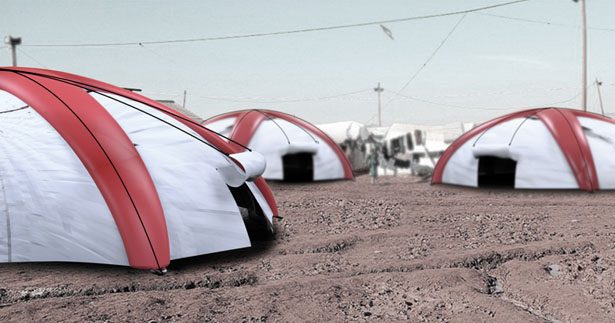 Airborne Tent: a Parachute and a Tent In One for Disaster Relief by Xiong Shilin, Han Wenjia, Mao Rifen, Li Minghai, and Wan Tao