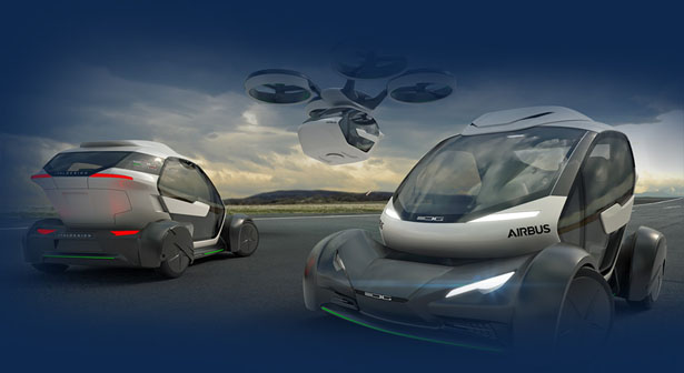 Futuristic Airbus Pop.Up Modular Electric Vehicle Is Designed to Relieve Traffic Congestion