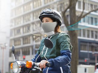 AiryTail Mask-Shaped Air Purifier Cleans The Air For Its User and People Around Them