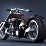 Aito Motorbike Concept with V-Twin 1800cc Engine
