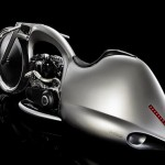 Akrapovič Full Moon Concept Motorcycle Stands Upright when Parked