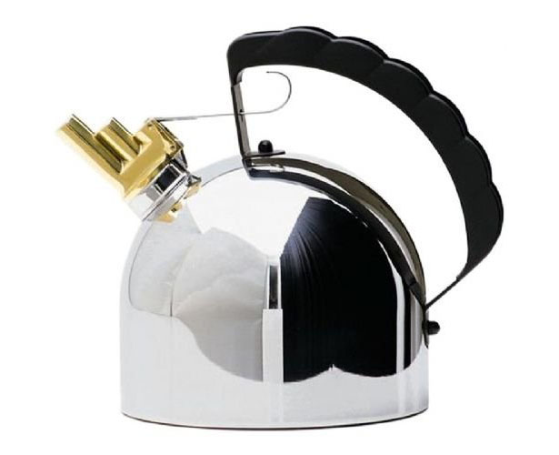 Alessi Sapper Kettle 9091 Melodic Whistle by Richard Sapper