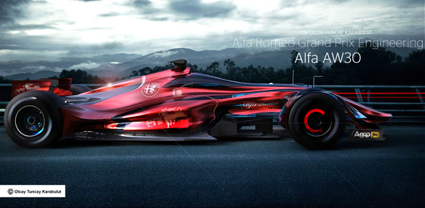 Alfa Romeo AW30 Is A Design Study for New Formula 1 Racing Car - Tuvie