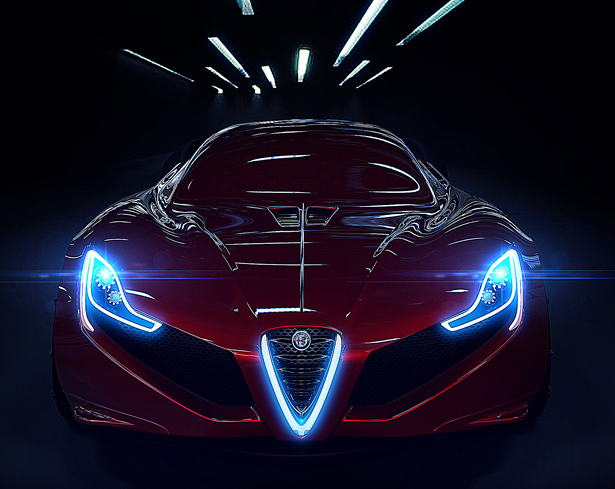 Alfa Romeo C18 Concept Sports Car by Antonio Paglia Design