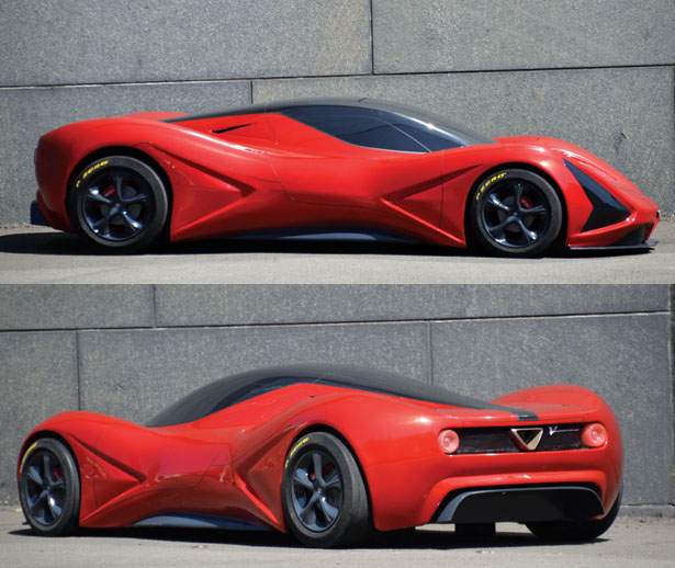Veemenza Concept Car Is A Design Study Inspired by Alfa Romeo Tradition of Performance-Oriented Lines and Proportions