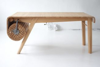 Alfakroll Table – a Unique Roll Out Table by Marcus Voraa