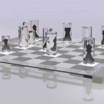 Unique Transparent Chess Set