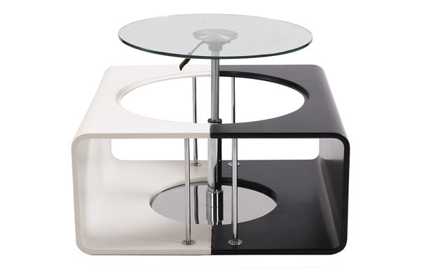 Alina Coffee Table Transforms Into A Small Dining Room Set for Two