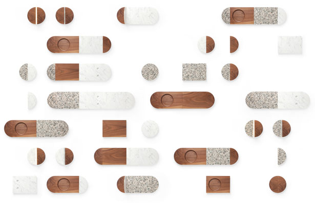 All of a Piece Modular Tabletop by Earnest Studio and Dana Cannam Design