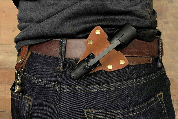 American Bench Craft Leather Flashlight Holster