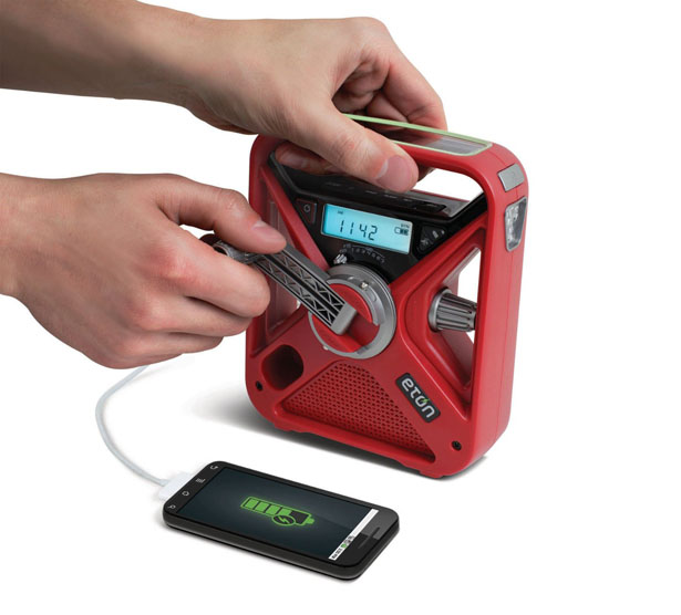 Eton American Red Cross FRX3 Hand Crank NOAA AM/FM Weather Alert Radio with Smartphone Charger