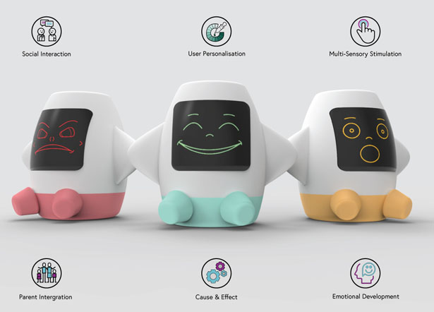 Amica Smart Toy by Jugjeevan Brar That Bridges The Communication Barrier Experienced Between a Child On The Autism Spectrum and Their Parent