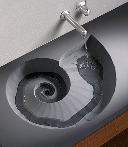 ammonite washbasin from high tech