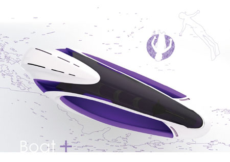 Ammonoq Submersible Boat Concept with Re-Breather Unit