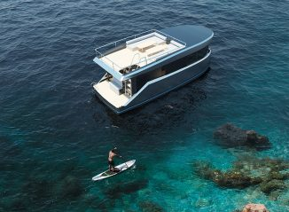 AmperAge Electric Yacht Looks Like a Houseboat With Sleek Performance of A Yacht